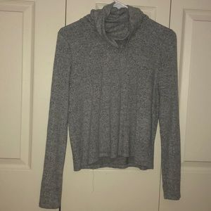Aerie Grey Turtleneck Long Sleeve Top